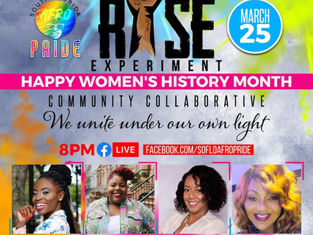 """""""The Rise Experiment"""" Community Collaborative Women's History Month"""