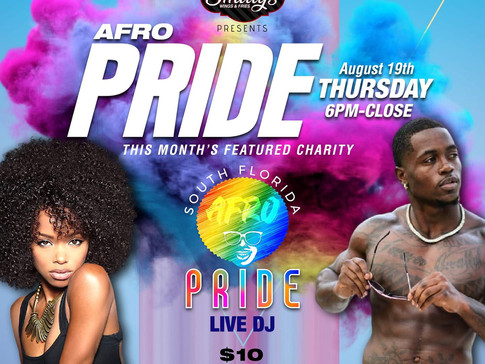Afro Pride & Smitty's restaurant presents a monthly charity event.