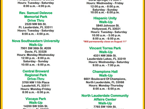 The most up-to-date DOH-Broward COVID Vaccination locations.