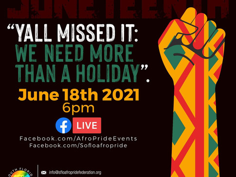"""Juneteenth """"We need more than a holiday"""""""
