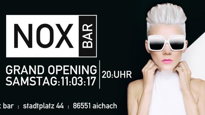 Nox BAR Eröffnung