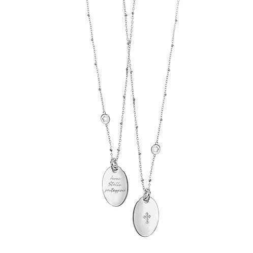 Girocollo in argento con diamanti