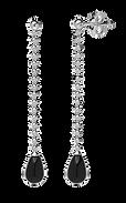 Orecchino in argento assimetrico perla e charms Tour Eiffel