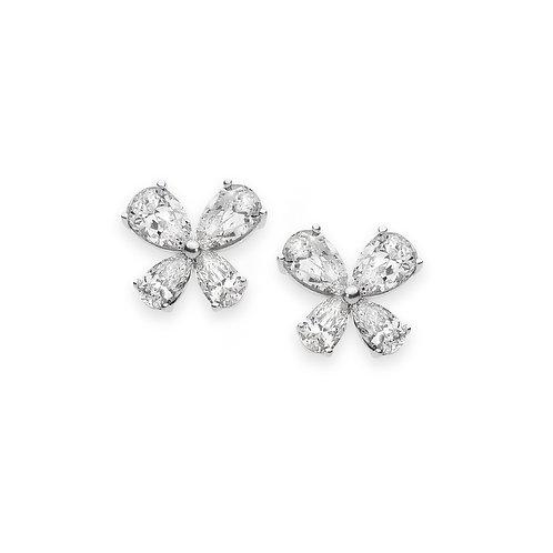 Orecchini Farfalle in Argento e Zirconi