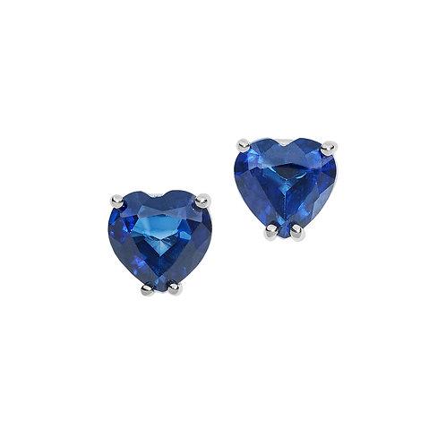 Orecchini in Oro 18 carati con Diamanti e Zaffiri