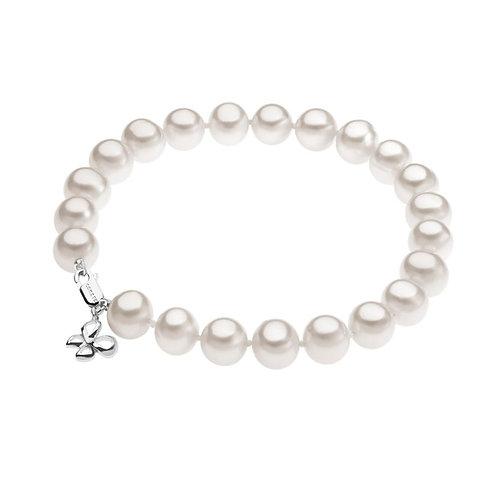 Bracciale di perle e charme in oro 18 carati