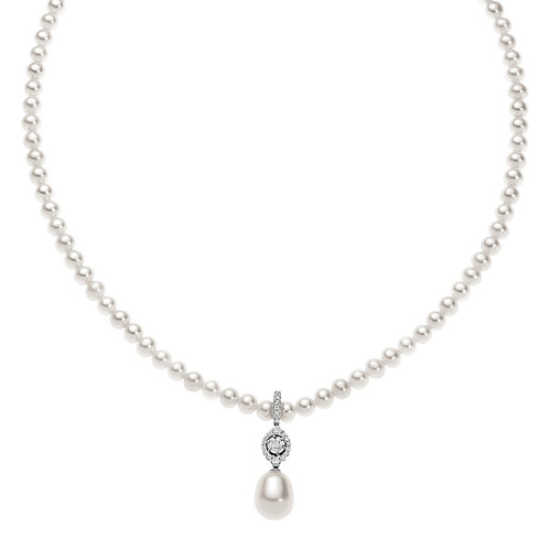 Filo di perle con diamanti