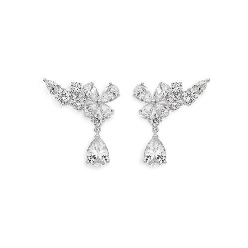 Orecchini Ear cuff in Argento e Zirconi