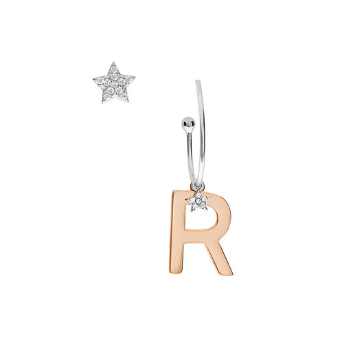 Orecchini in Argento Lettera R - Collezione STELLA