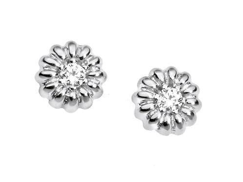 Orecchini Margherita in Oro 18 carati e Diamanti