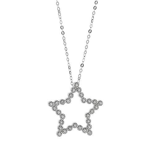 Girocollo con stella in oro e diamanti