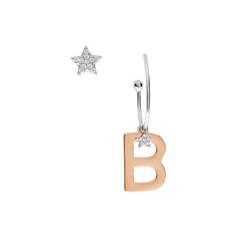 Orecchini in Argento Lettera B - Collezione STELLA