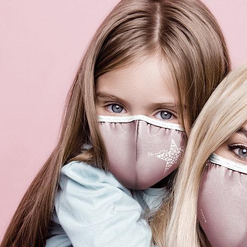 Mascherina Bambina tinta unita Rosa