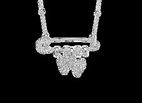 Girocollo Sautoir in argento con charms  fiocco