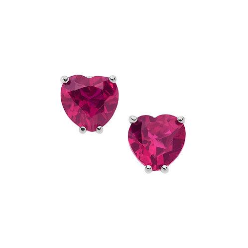 Orecchini in Oro 18 carati con Diamanti e Rubini