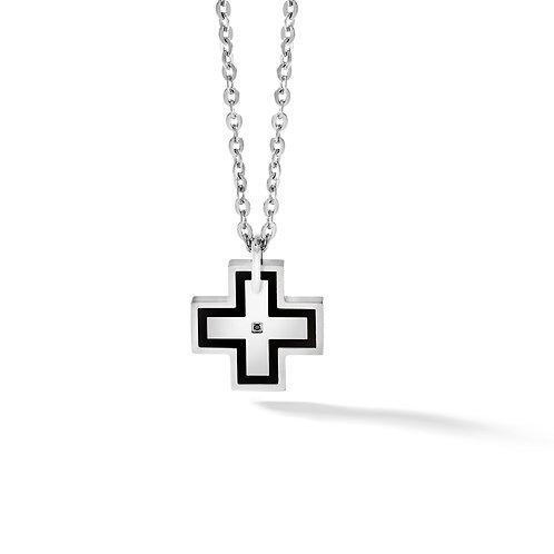 Girocollo croce in acciaio