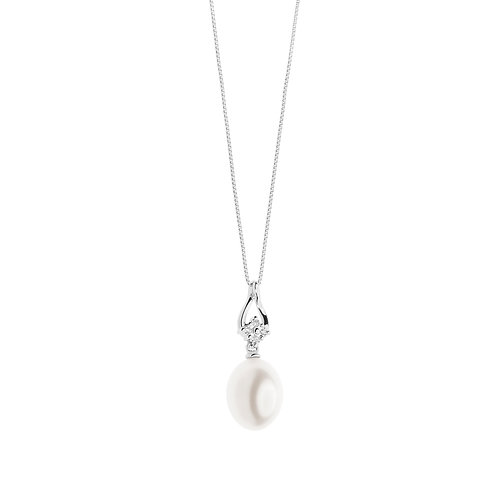 Girocollo in Oro 18 carati con Diamanti e Perle