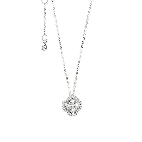 Girocollo in oro 18 carati e pavè di diamanti