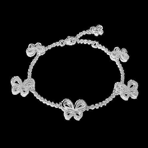 Bracciale in Argento con Farfalle charms