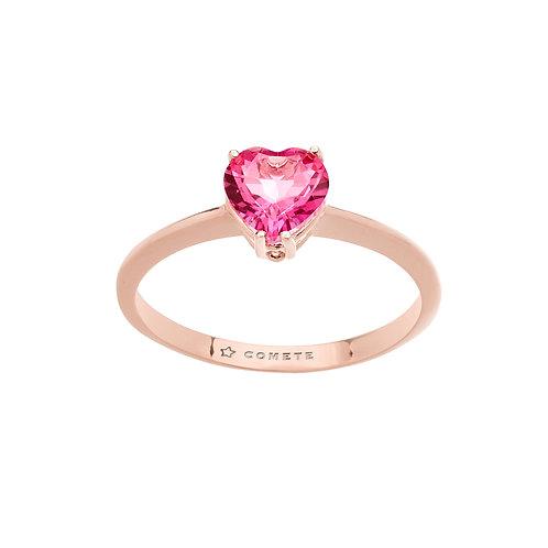 Anello in Oro 18 carati e Topazio cuore