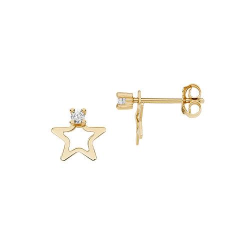 Orecchini Stella in Oro giallo e diamanti