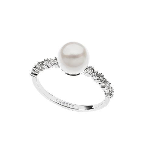 Anello Diamanti e Perla