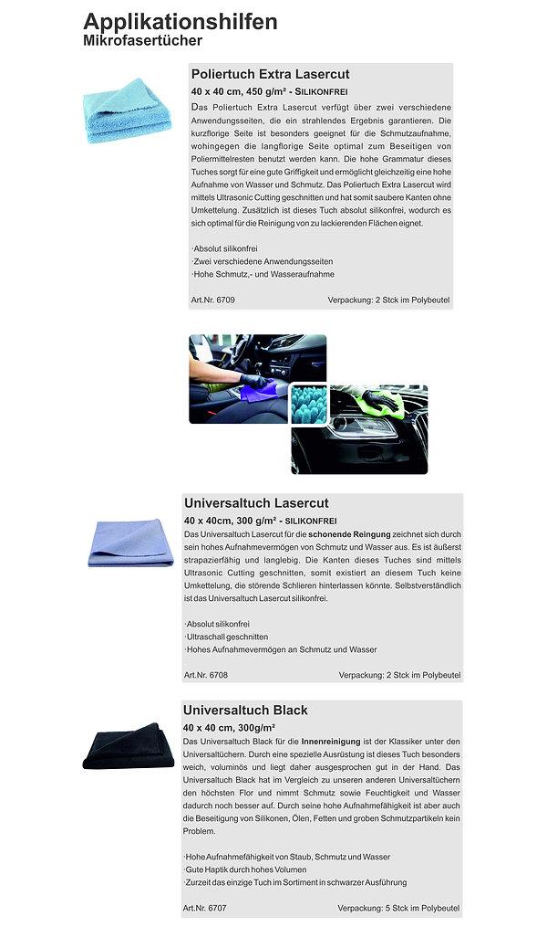 Car Cosmetic Internet Applikationshilfen