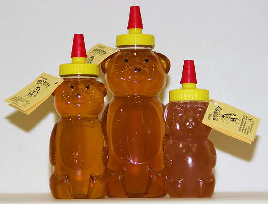 12 oz Raw Honey Bear