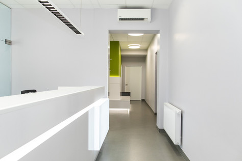 Eingangsbereich Osteoporosepraxis Linz
