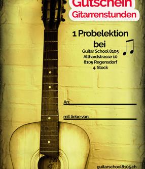Gutschein für Gitarrenstunden