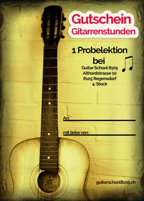 Gitarrenunterricht Gutschein