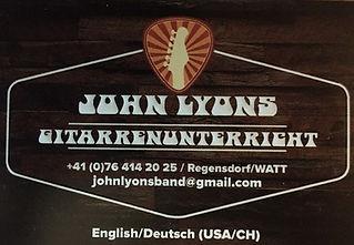 Gitarrenunterricht Zürich Regensdorf