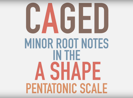 Lesson: minor pentatonic scales in CAGED system