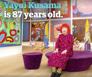 87-year-old Japanese artist Yayoi Kusama is celebrated as an avant-garde visionary, known for her ic