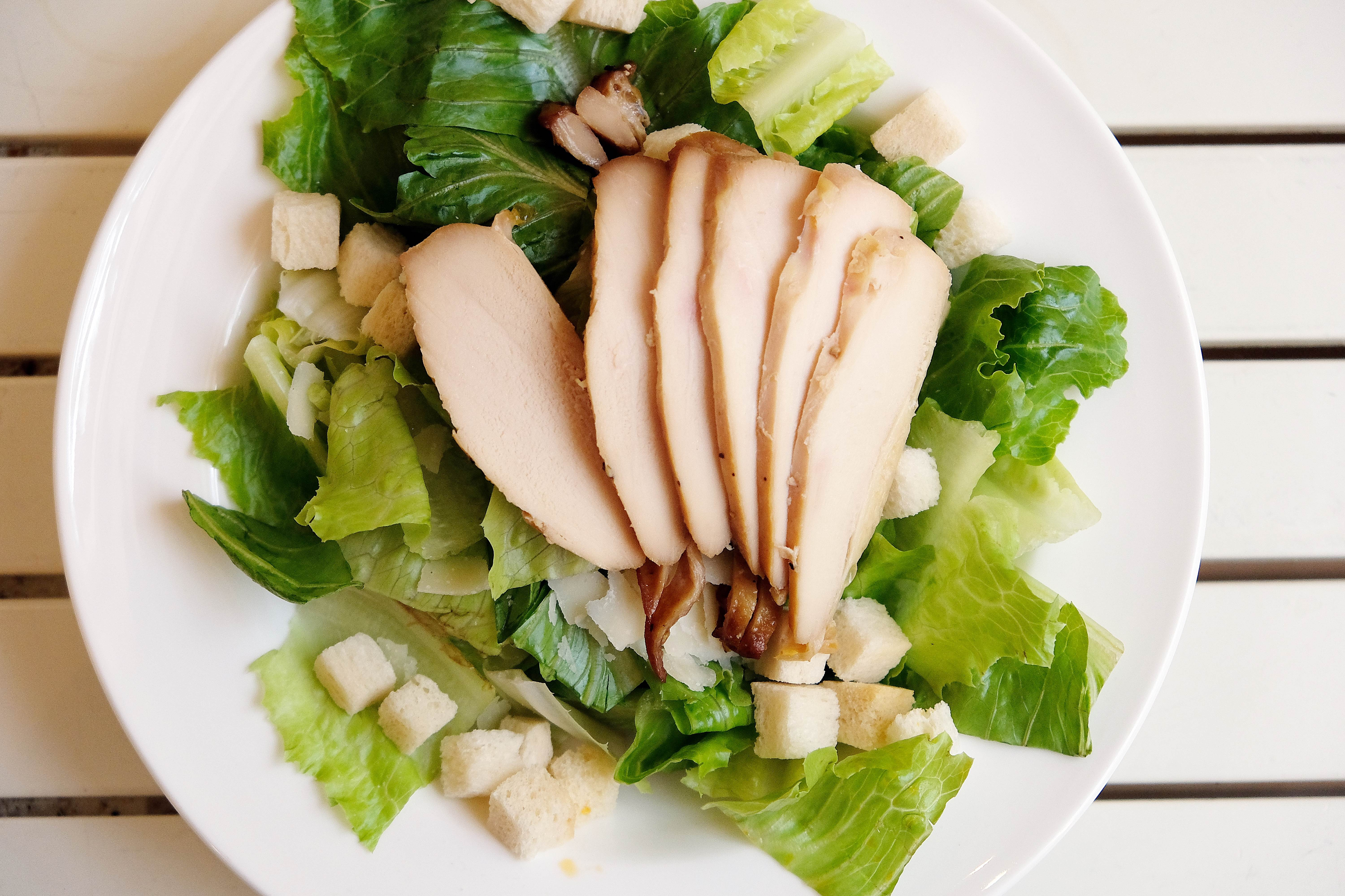 Roasted Chicken Ceasar Salad
