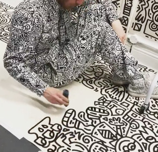 Mr Doodle floating in his own universe! Amazing!
