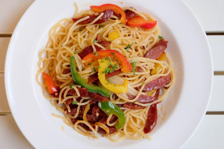 Spanish Sausage Spaghetti
