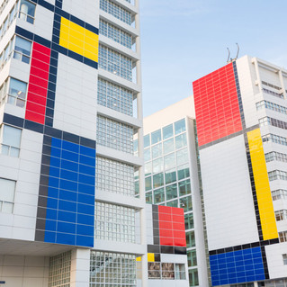 The Hague Celebrates 100 Years of De Stijl by 'Mondrianizing' its Buildings
