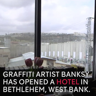 Graffiti artist Banksy has opened a hotel in the West Bank.