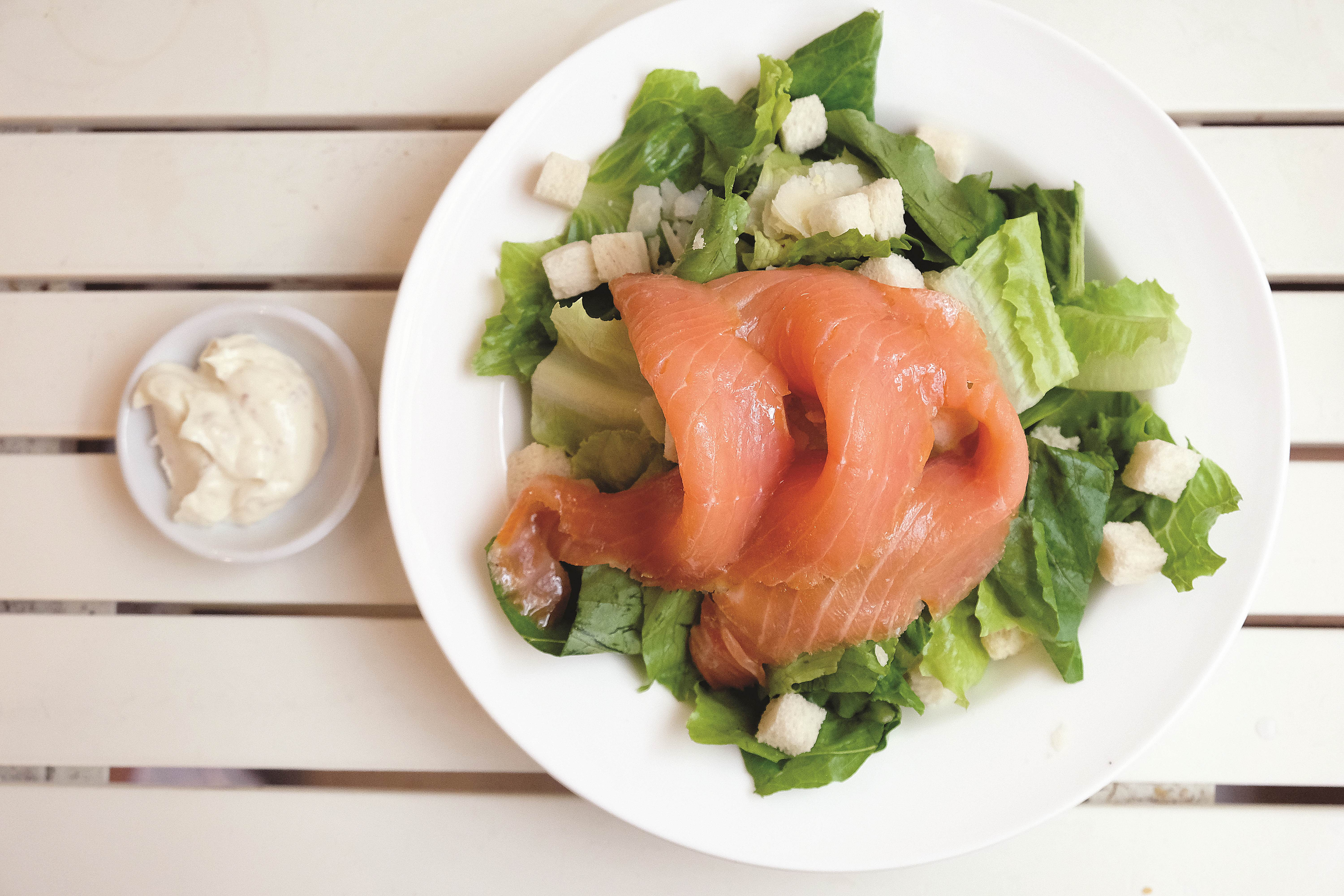 Smoked Salmon Ceasar Salad