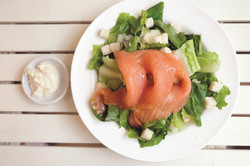 Smoked Salmon Ceasar Salad