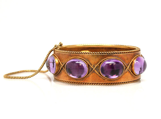 14kt Amethyst Bangle Bracelet