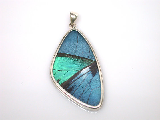 Blue and Teal Butterfly Pendant