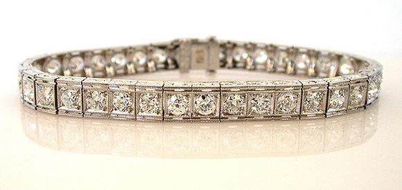 Platinum 7.00ct Diamond Bracelet