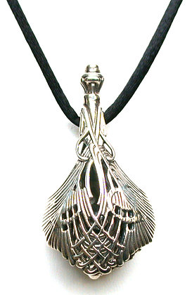 Sterling Silver Peacock Feather Bell