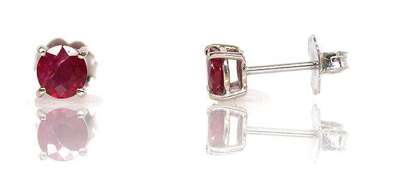 14kt Ruby Stud Earrings