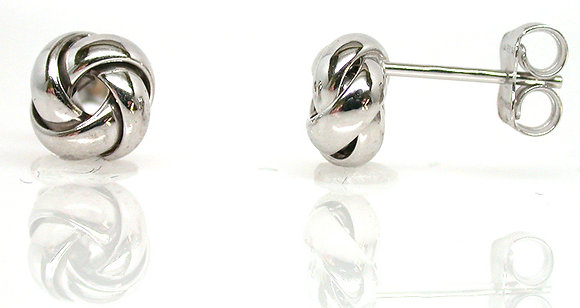 14kt Love Knot Stud Earrings