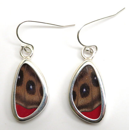 Extra Small Brown and Red Earrings