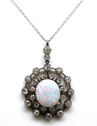 Diamond & Opal Pendant
