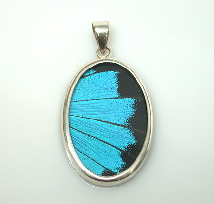 Blue and Black Butterfly Pendant